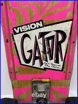 Vision Gator Mark Rogowski Pro Model Vintage 80s Skateboard Complete Rare