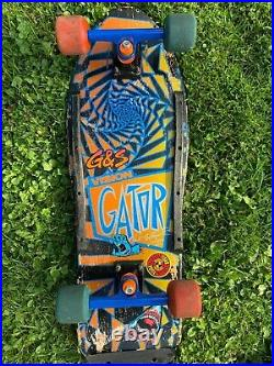 Vision Gator OG 1980s Vintage Skateboard Deck Complete, shredders