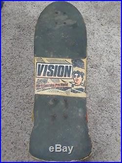 Vision Mark Gonzales pro model, venture trucks, vision shredder wheels. GONZ